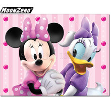 Minnie Donald Duck 5D DIY Diamond Round Square Mosaic Hand Embroidered Gift Set Rhinestone Full Diamond Decor Mural WYZ18872(China)