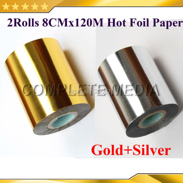2rollsgoldsilver 80mmx120m golden color hot stamping foil heat 2rollsgoldsilver 80mmx120m golden color hot stamping foil heat transfer napkin gilding reheart Choice Image