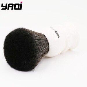 Image 2 - Yaqi 30 ミリメートルサイズノット白ハンドル黒人工毛シェービングブラシ