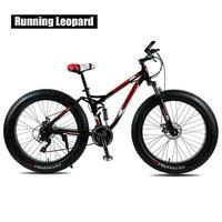 "Running leopard mountain bike frame aço 24 velocidade disco de freio a disco mecânico 26 ""x4.0 fatbike bicicleta gordura entrega gratuita|Bicicleta| |  -"