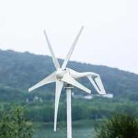 2019 pequeño generador de turbina de viento apto para luces de Casa molino de viento 600W MPPT controlador de viento regalo todos los juegos con 10 años de garantía