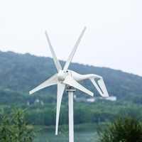 2019 pequeño generador de turbina de viento apto para luces de hogar molino de viento 600W MPPT controlador de viento regalo todos los juegos con 10 años de garantía