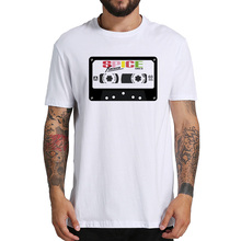 57c39dd0d EU Size 100% Cotton T Shirt Spice Girls Magnetic Tape Graphic Printed Homme  White Comfortable