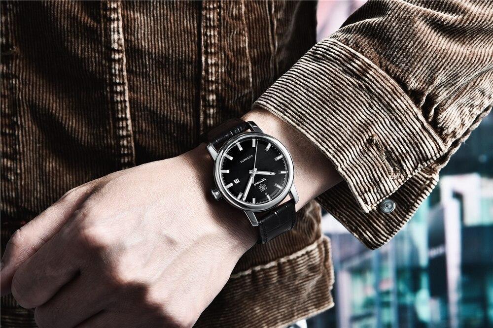 Benyar relógios masculinos marca de topo relógio