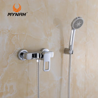 MYNAH Russia Free Shipping Bathroom Shower Faucets Bathtub Faucet With Hand Shower Sets Shower Faucet Bathtub Water Valve M2049