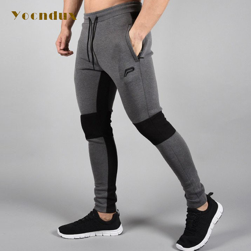 2017 New Arrival men's autumn winter fitness trousers Sports pants training running Sports men's comprehensive training pants sticker winter sports