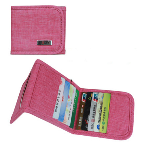 Bubm multifunctional card credit passport business document bag VIP card storage case M folding style Rose red