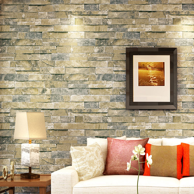 Vintage 3D Wallpaper Stone Brick Design Background Wall Vinyl Modern For Living Room Clothing Store Coverings In Wallpapers From Home
