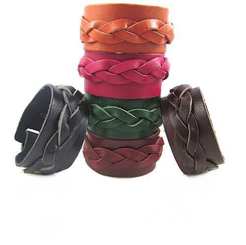 Korean jewelry fashion leather the ponytail bracelet leather bracelets European and American fashion models