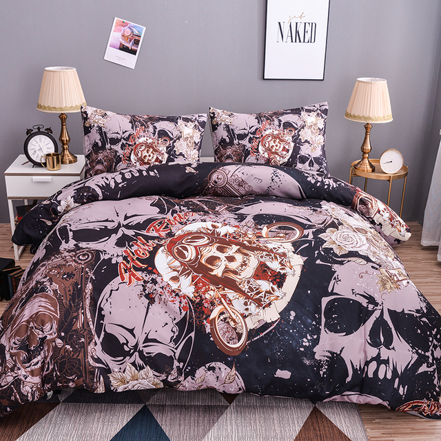 3D DEATH HEAD SKULL BEDDING SETS