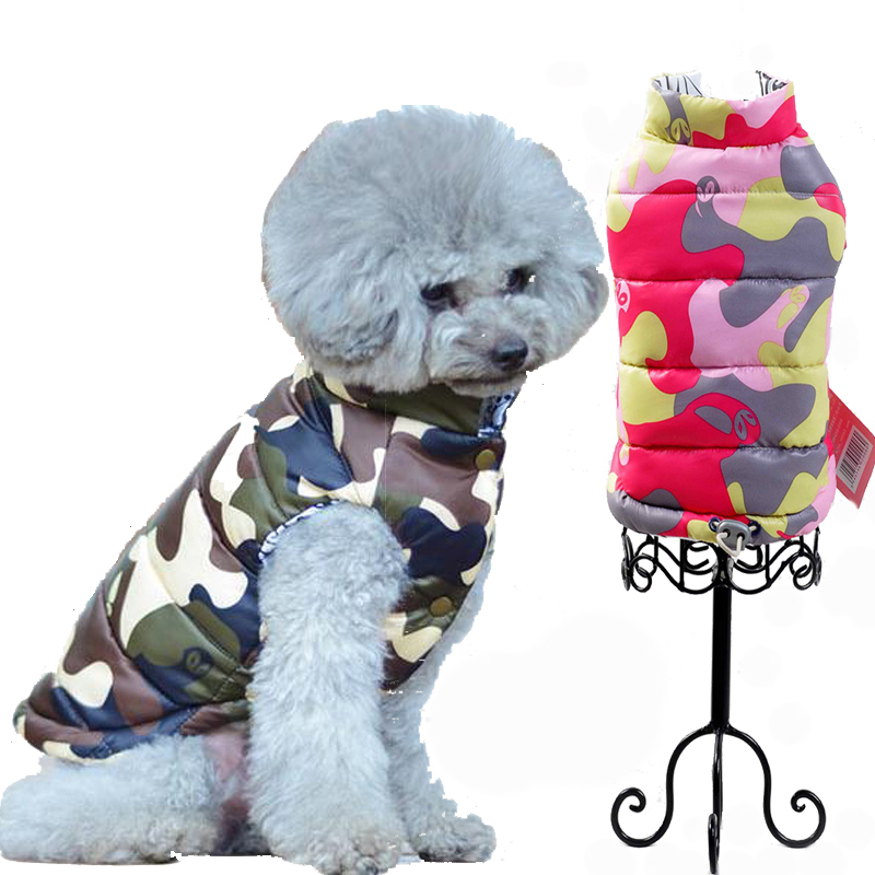 Waterproof Camouflage Pet Dog Puppy Vest Jacket Chihuahua Clothing Warm Winter Cat Dog Clothes Coat For Small Medium Large Dogs