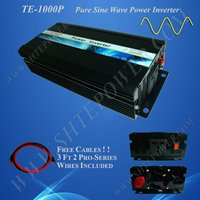 Full Power DC12V Input AC110V Output House Inverter 1KW Pure Sine Wave