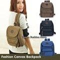 Бесплатная доставка мода холст женщины рюкзак школьный портфель небольшой студент женская сумка на плечо