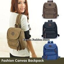 Livraison gratuite mode toile sac à dos femmes école sac petit Female Student sac à bandoulière