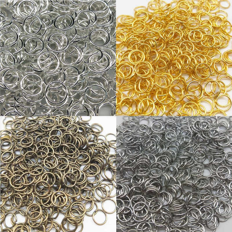 3/4/6/8mm New Cheap Beads Jewelry Findings Open Jump Split Rings Connector for DIY Jewelry Findings Making