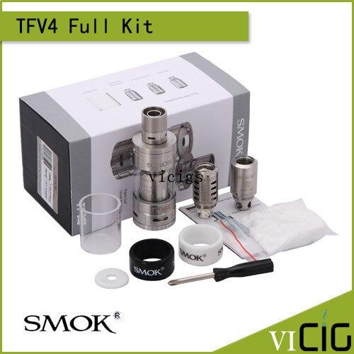 Original smok tanque 5.0 ml tfv4 tfv4 mini sub tanque ohm atomizador kit de ajuste para smok smok xpro m80 plus x cubo ii mod