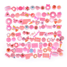 SHNGki 10PCS/lot Kawaii Artificial Resin Candy Sweet Food Toys Dollhouse Miniatures Mobile Phone DIY Accessories(China)