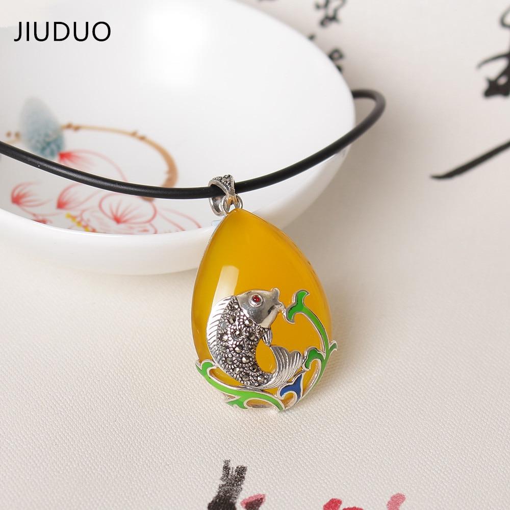 Handmake Buddha Pendant Jewelry for Women Men Natural Jade Necklace Pendant Silver Chain Flower Classic Wholesale Male Female