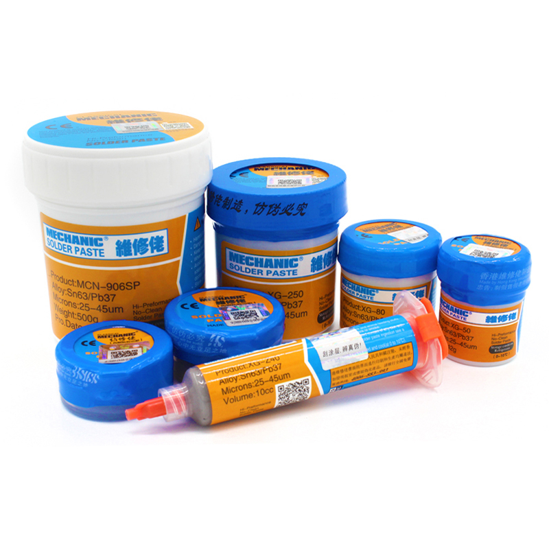 Hight quality Mechanic XG-Z40 XG-50 Soldering Solder flux Welding Paste Flux XG80 XG-250SMD SMT Sn63/Pb37 Welding Flux mechanic soldering flux welding paste tin cream sn63 pb37 for bga reball stencil for iphone samsung chip ic repair