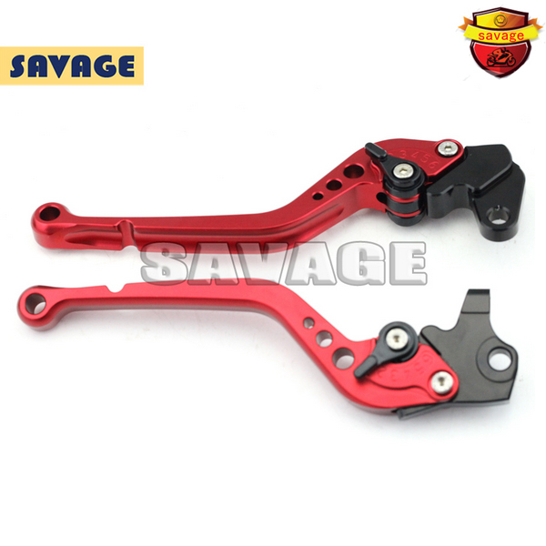 ФОТО For TRIUMPH SPEED TRIPLE SPEED MASTER TIGER 800/1050 Motorcycle CNC Billet Aluminum Long Brake Clutch Lever Red