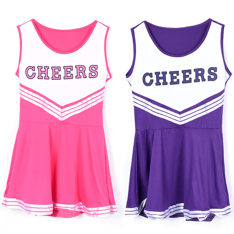 High School Girl Cheerleader Costume Cheer Uniform Cheerleading Dress Blue Black Pink Purple-in Sexy Costumes from Novelty u0026 Special Use on Aliexpress.com ...  sc 1 st  AliExpress.com & High School Girl Cheerleader Costume Cheer Uniform Cheerleading ...