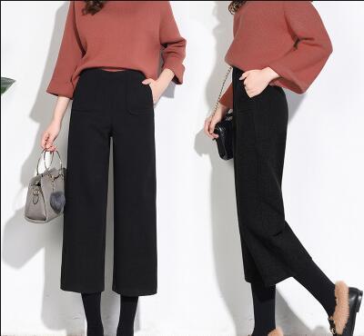 2018 NEW   Wide     leg     pants   autumn and winter 9-88 winter women's   pants   loose high waist KX13-02-KX13-18