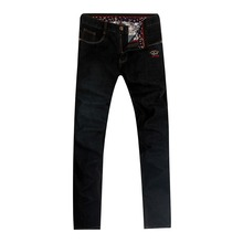Jeans man Tace&shark brand clothing jeans Men's Straight drum type Back embroidery Pure cotton fabric Jeans Billionaire man