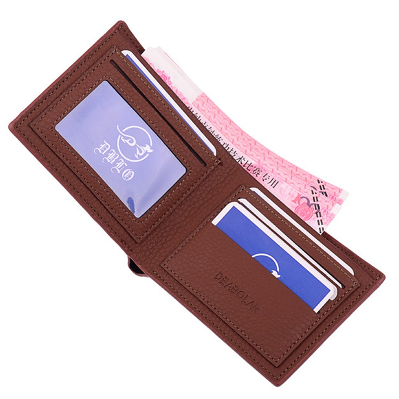 NewArrival PU Leather ID Holders Cards Pack Ultra thin Anti-magnetic Anti-scan 2 Folds Bank Credit Card Holder