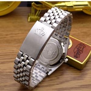 Image 4 - Reloj de cuarzo REGINALD Crown para hombre y mujer, reloj de negocios informal para hombre, calendario de acero japonés, reloj de pulsera de cuarzo resistente al agua