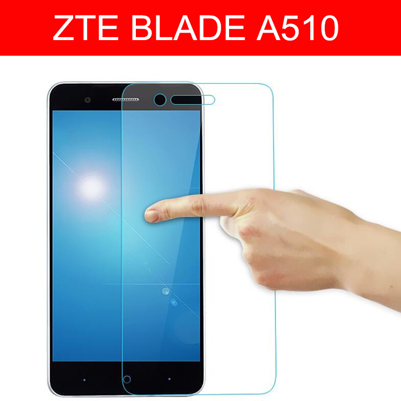 Tempered Glass For ZTE Blade A510 / A510T / BA510 Screen Protector 9H Toughened Protective Film With Clean Wipe Zte A 510 Guard