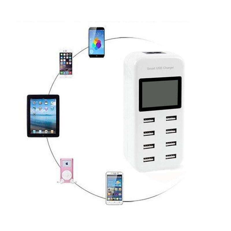 INGMAYA 8-port USB-laddare 5V8A LED-display laddningsstation för - Reservdelar och tillbehör för mobiltelefoner - Foto 6