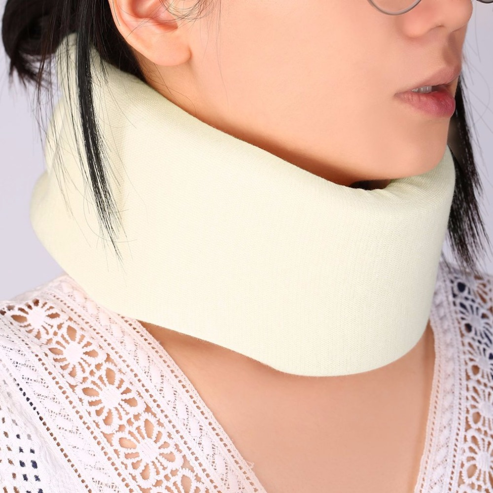 Safety Soft Firm Foam Cotton Cervical Collar Neck Jaw Spine Head Brace Support Shoulder Pain Relief Adjustable Health Care White