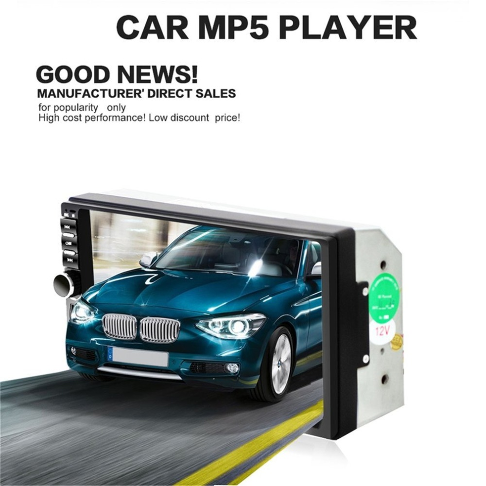 Car Video Player 7 Inch Audio Stereo MP5 Player Bluetooth Audio Car Radio FM Bluetooth USB Player Support for SD/MMC 7018B