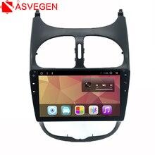 цена на Asvegen Android 7.1 Octa Core Touch Screen Car Audio Stereo Radio For PEUGEOT 206 Multimedia DVD Player GPS Navigation Speaker