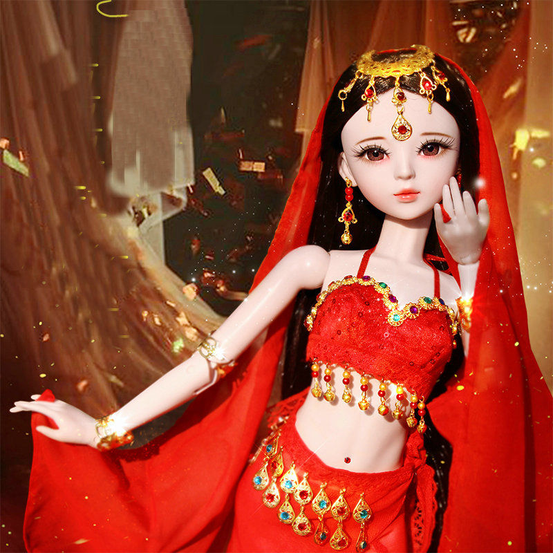 60cm Red Dress China Doll 23 Inches Handmade 1 3 Bjd Dolls Full Set Ball Jointed Big Dolls For Girls Toys Gift Dolls Aliexpress