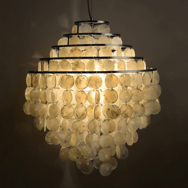 modern nordic seashell chandeliers lights fixture 5 circles natural