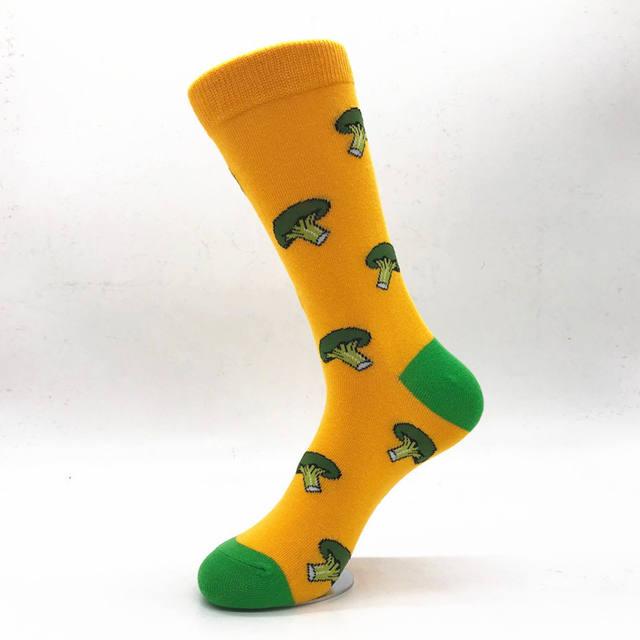 PEONFLY  Mens socks Women animal alien chili Moustache sloths Novelty Sock combed cotton funny Socks Men's big size crew socks