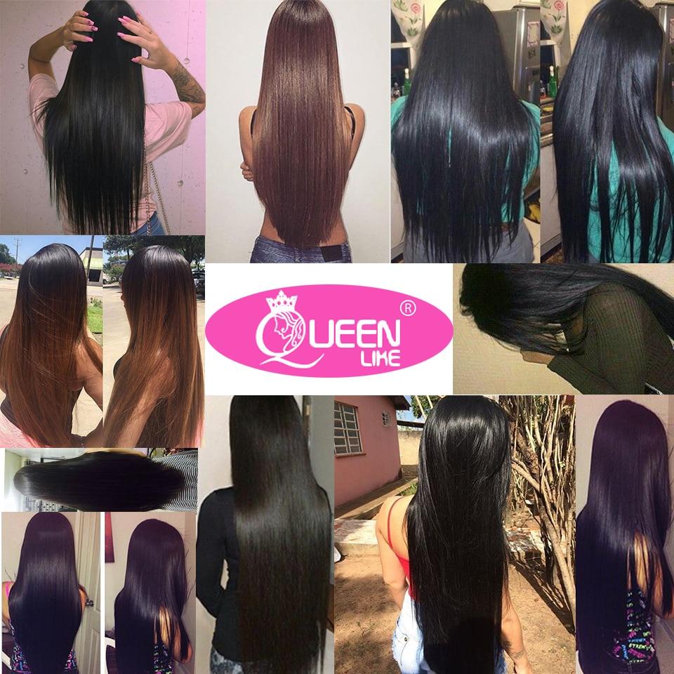 Queen nagu tooted Inimeste juuksekudumine sulgemisega Non Remy Weft 3 - Inimeste juuksed (must) - Foto 6