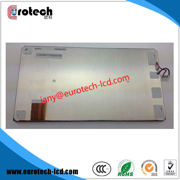 Original new 8 inch LQ080T5GG01B  LCD display screen for chrysler car radio navigaiton system lc150x01 sl01 lc150x01 sl 01 lcd display screens