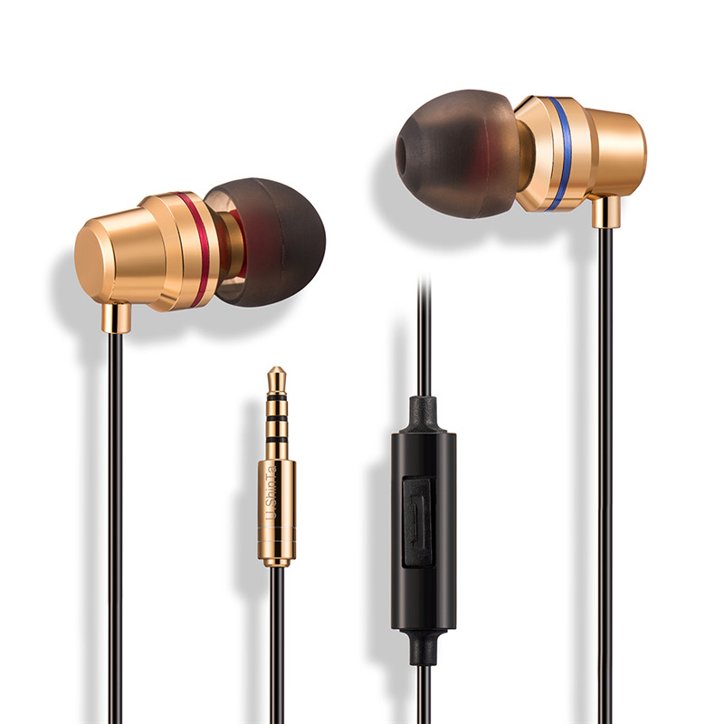 New Metal M206 Earphones In-Ear Sport 3.5mm Earphone Stereo Line control with Mic headset for Huawei Xiaomi S6 S8 MP3 player PC s6 3 5mm in ear earphones headset with mic volume control remote control for samsung galaxy s5 s4 s7 s6 note 5 4 3 xiaomi 2