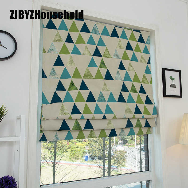The Simplicity Roman Curtains for Modern Kids Living Room Bedroom Windows Curtain Pulling Curtains Shading Environmental Study