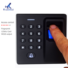 цена на 500Users Access System Fingerprint Sensor RFID card reader Access Control Reader Fingerprint Scanners Wiegand26