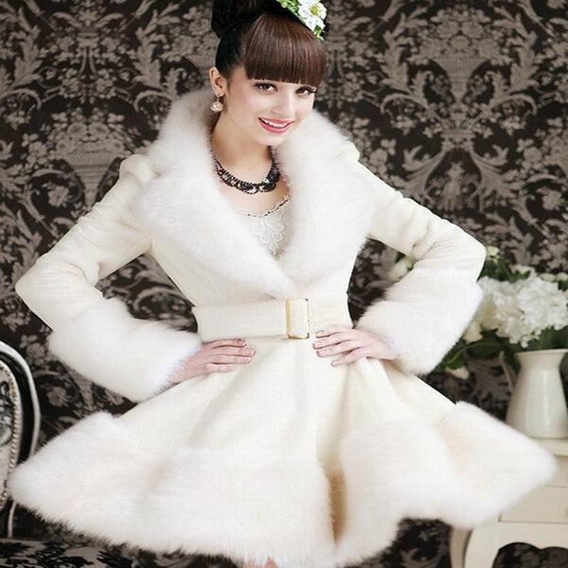 Automne Hiver Mince Cothes Blanc Faux Rex Cheveux Femmes Lapin 2017new Style De Europe Artificielle Et Fourrure Renard Incrustation Manteau awxq6nTSvp