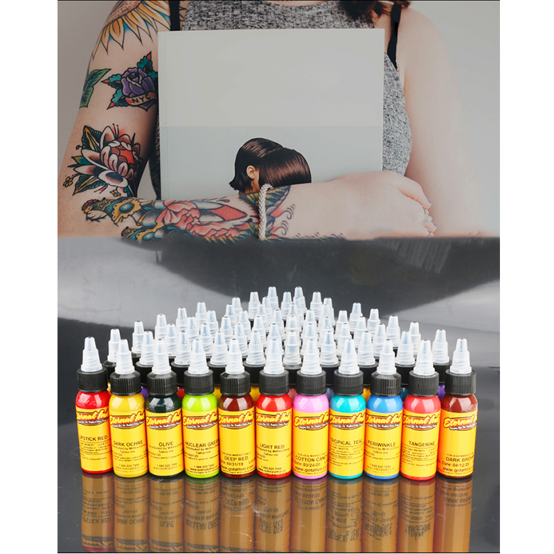 16Pcs Body Painting Tattoo Ink Set Permanent Makeup Coloring pigment Eyebrows Eyeliner Tattoo Paint Body Makeup Ink Tools free shipping 3 pp eyeliner liquid empty pipe pointed thin liquid eyeliner colour makeup tools lfrosted purple