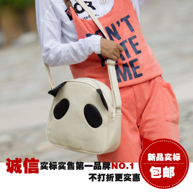 2012 panda head  cartoon easily bear  women's handbag student school  shaping women's