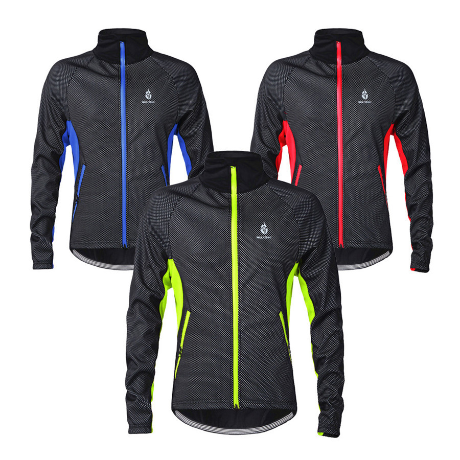 Cycling Fleece Tops Thermal Windproof Breathable Jacket ...