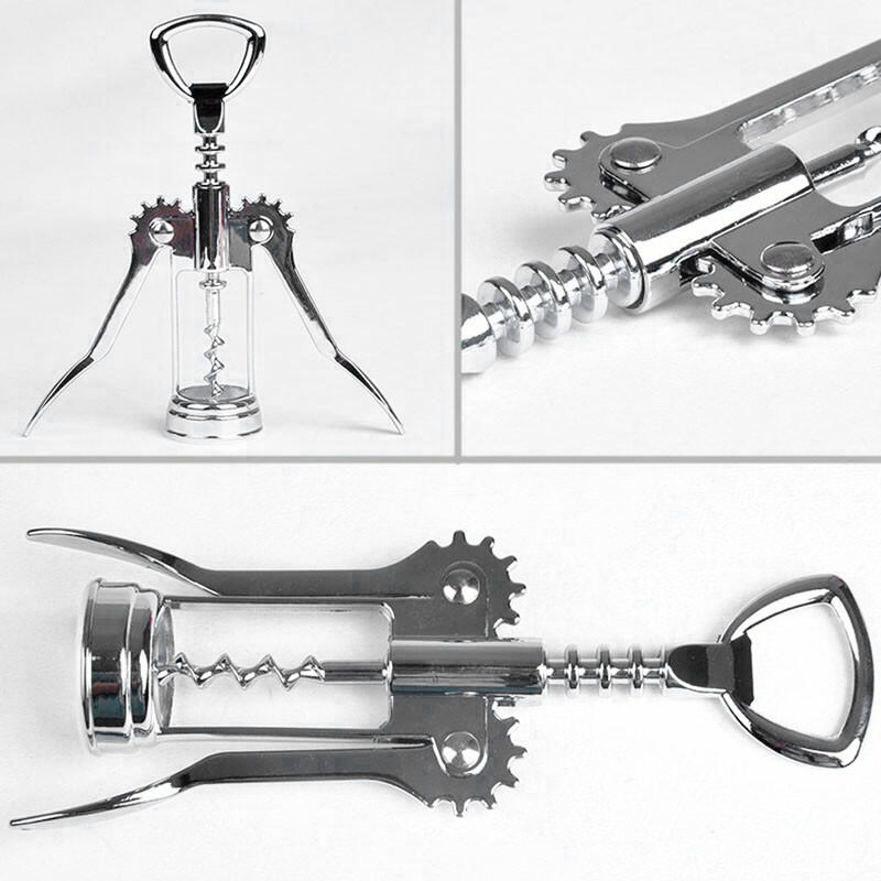 Image 5 - Seluna 1 pcs Portable Stainless Steel Red Wine Opener Wing Type Waiter Metal Wine Corkscrew Bottle Handle Openers Corkscrews-in Openers from Home & Garden