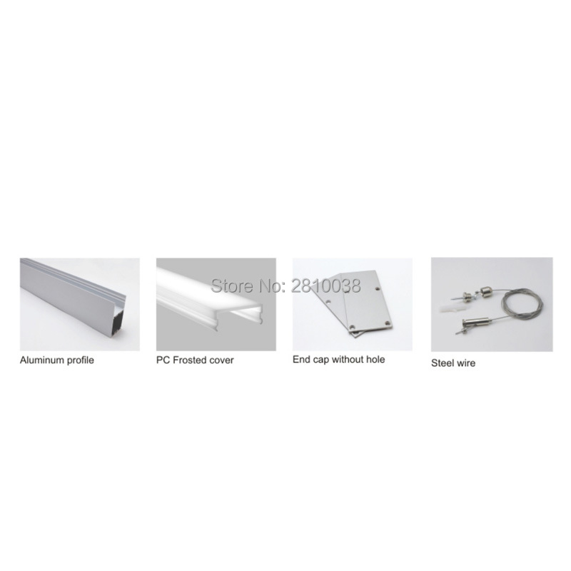 50X 1M Sets/Lot Factory price aluminium profile for led and high U-shape led aluminum profile for pendant or suspension lamps