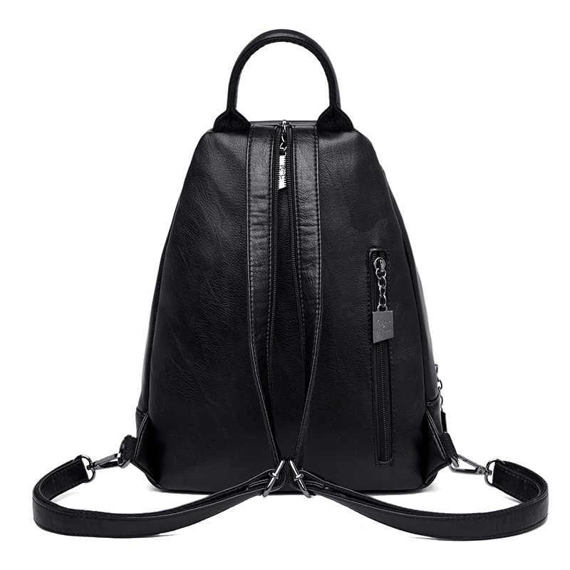 2019 классические женские кожаные рюкзаки для девочек Sac a Dos женский рюкзак для колледжа путешествия рюкзак женский рюкзак Mochilas Girl
