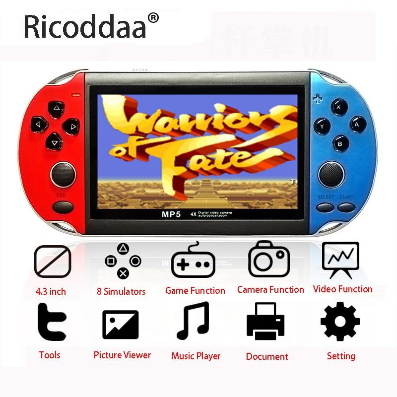 Portable Retro Mini Classic Game Console Handheld Boy Nostalgic 4.3 Inch TFT Screen Games For Child Nostalgic Player